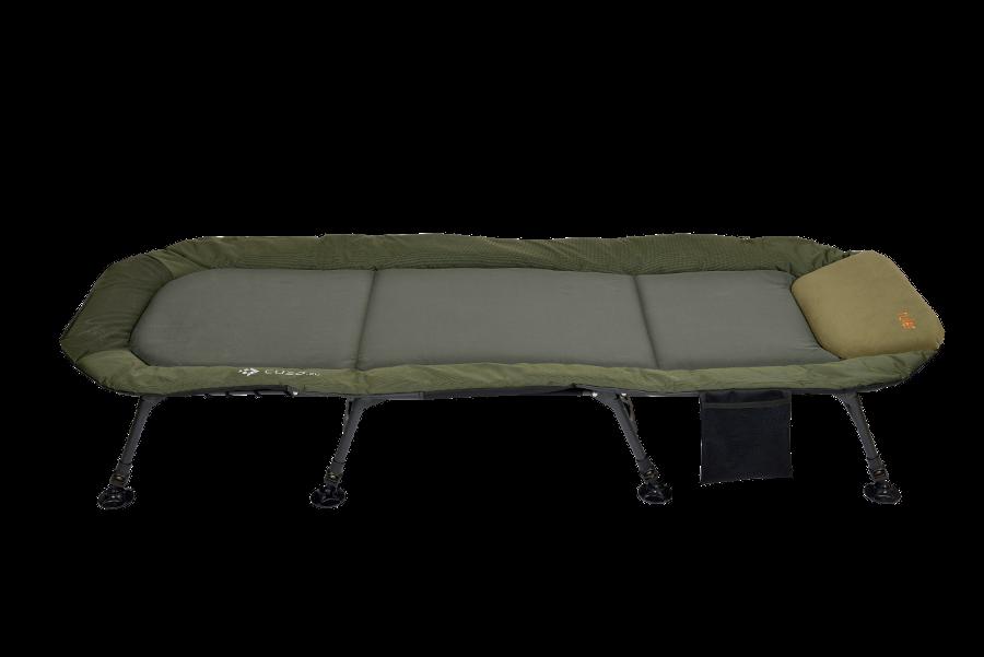 Раскладушка-кровать карповая Elektrostatyk RULER L15 с регулируемой спинкой,8 ножек (до 120 кг)