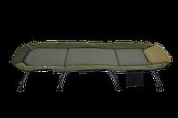 Раскладушка-кровать карповая Elektrostatyk RULER L15 с регулируемой спинкой,8 ножек (до 120 кг), фото 1