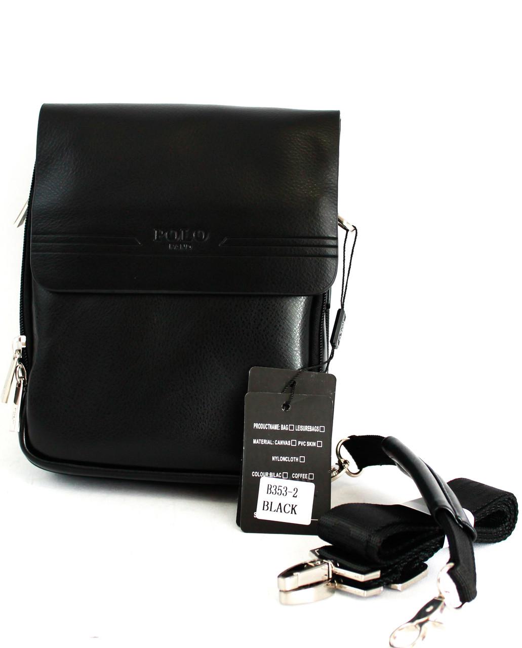 Стильная сумка для мужчин из кожзама Polo B353-2