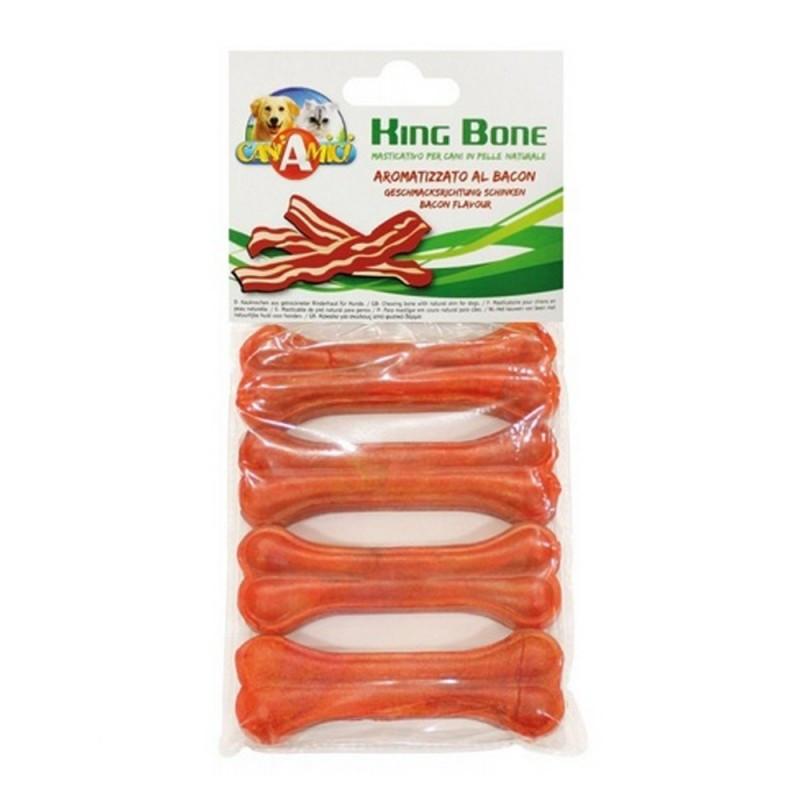 Ласощі для собак кістка желатинова бекон CROCI KingBone 4шт, 10 см