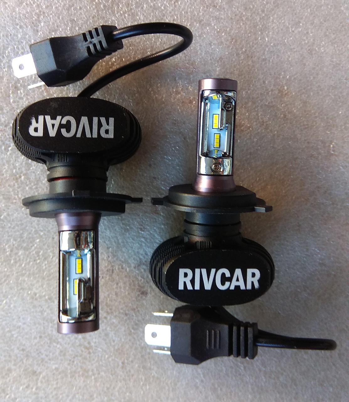 Лампы LED Rivcar H4 6500k 4000Lm 12v