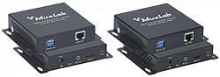 Система передачи HDMI сигнала через LAN MuxLab 500752 до 100м