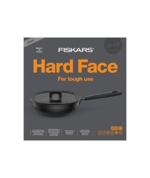 Сковорода с крышкой Fiskars Hard Face 28 см (1020891), Финляндия