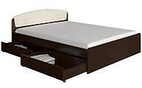 Кровать Эверест Астория с ящиками Венге комби 879234, КОД: 1340598