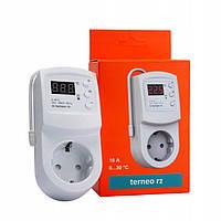 Терморегулятор в розетку Terneo rz для инфракрасных панелей. Бесплатная доставка