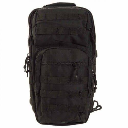 Тактический однолямочный рюкзак Mil-Tec One Strap Assault Pack LG Black  (14059202)