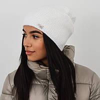 """Женская шапка """"Цепочка"""" белый"""