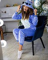 Взрослая пижама кигуруми стич голубой kig0012