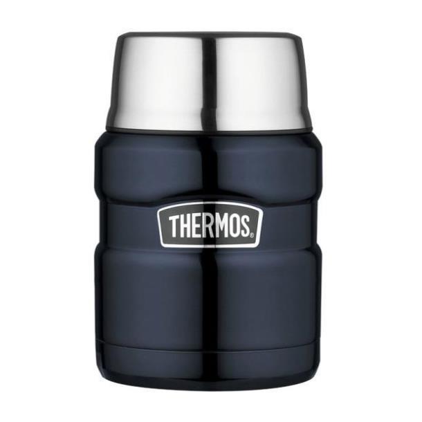 Термос для еды с ложкой Thermos Stainless King Food Flask, Midnight Blue, 470 ml  (173020)