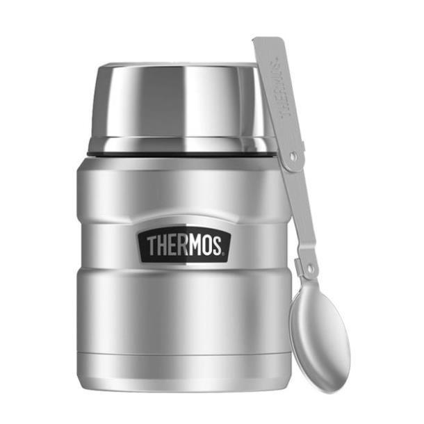 Термос для еды с ложкой Thermos Stainless King Food Flask,Stainless Steel, 470 мл  (173025)