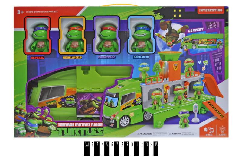 """Детский игровой набор Грузовик с героями """"Черепашки - ниндзя"""" H4491, свет, звук"""