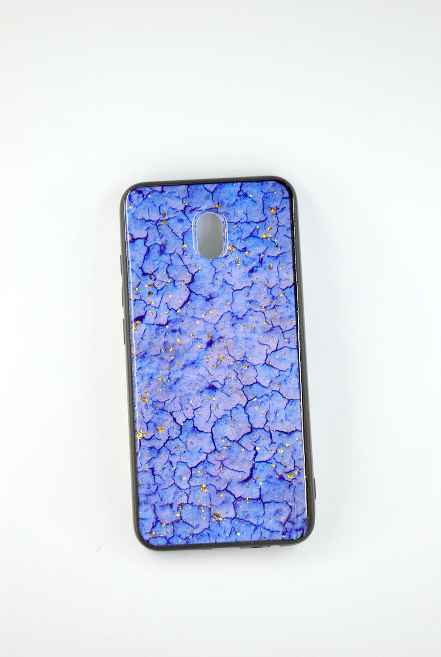 Чехол Xiaomi Redmi Note 8Pro Silicone Glass Marble Glitter blue
