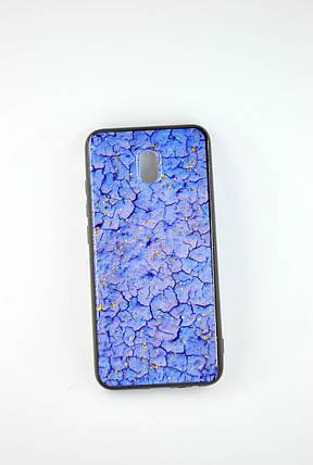 Чехол Xiaomi Redmi Note 8Pro Silicone Glass Marble Glitter blue, фото 2