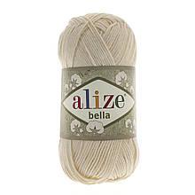 Пряжа Белла Alize (Ализе) цвет 01 молочный