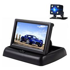 Автомобильный монитор Terra LCD Color 4.3 с камерой заднего вида Черный mt-348, КОД: 1187786