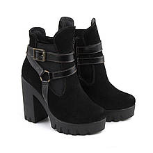 VM-Villomi Замшевые ботинки на каблуке