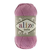 Пряжа Белла Alize (Ализе) цвет 198 темно розовый