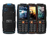 Кнопочный телефон зеленый защищенный, водонепроницаемый с большим дисплеем на 3 sim Vkworld Stone V3 green, фото 4