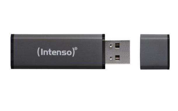 Флешка INTENSO Alu Line 64Gb USB 2.0 anthracite (3521491)