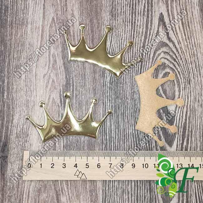 Декор Корона Принцесса ЛАК золото