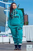 Женский теплый спорт костюм Nike  батал