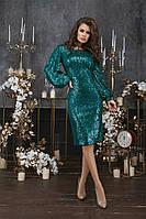 Женское Нарядное Платье с пайетками, фото 1