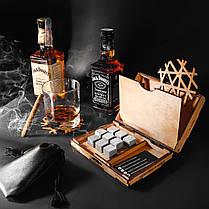 Камни для виски оригинал 9 шт Сертификат. Деревянная упаковка + мешочек+ щипцы + 2 подставки, фото 3