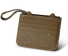 Картхолдер на 6 карт с карманом для купюр «Cat C077» светло-коричневый