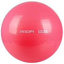 Фитбол Profi Ball 65 см. Розовый (MS 0382RO), фото 2