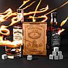 Камни для виски оригинал 9 шт Сертификат. Деревянная упаковка + мешочек+ щипцы + 2 подставки, фото 2
