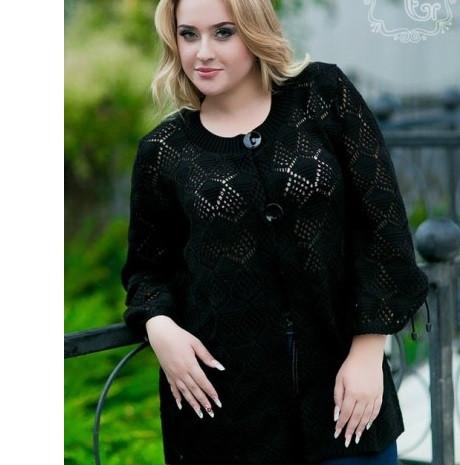 женский кардиган свитер батал широкий