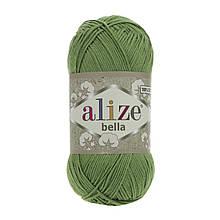 Пряжа Белла Alize (Ализе) цвет 492 зеленый