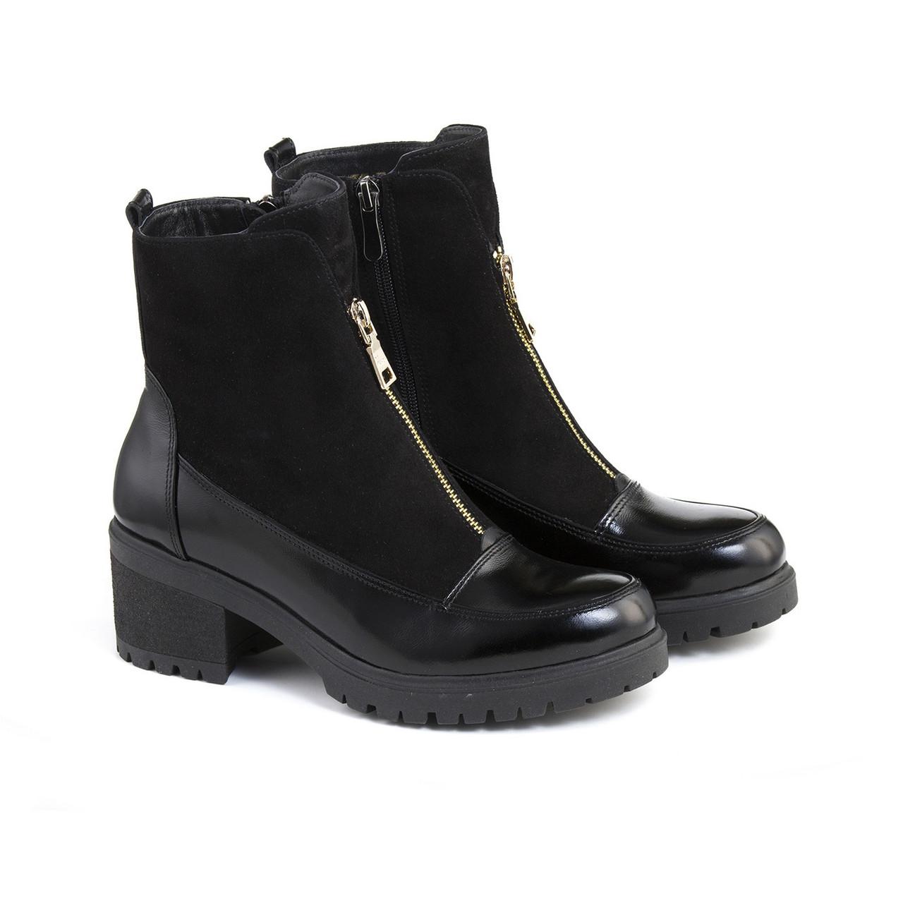 VM-Villomi Ботинки лаковые с замшей, молния по средине