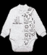 Бодік для новонароджених BD-19-26-1 *Зоомир* (колір сірий, розмір 62, 74)