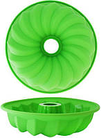 Форма для выпечки кексов Kamille Cake 26 х 5.5 см Зеленая psgKM-7700, КОД: 945243