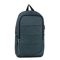Рюкзак TEAMWIN с USB-портом + вход для наушников Dark blue (TN4782)