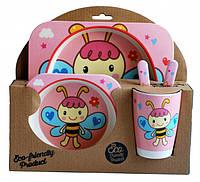Набор детской посуды из бамбукового волокна Elite Lux 5 приборов Фея Пчелка 200728, КОД: 1091561