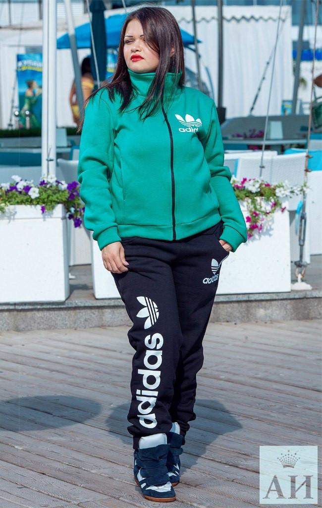 """Теплый спорт костюм Adidas больших размеров  - Прямой поставщик модной одежды оптом и в розницу """"V-Stile"""" отправка по Украине, по миру в Одессе"""