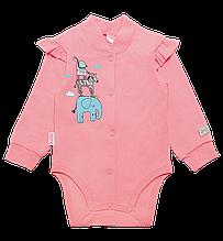 Бодік для новонароджених BD-19-29-1 *Друзі* ( Колір рожевий. Розмір 62)