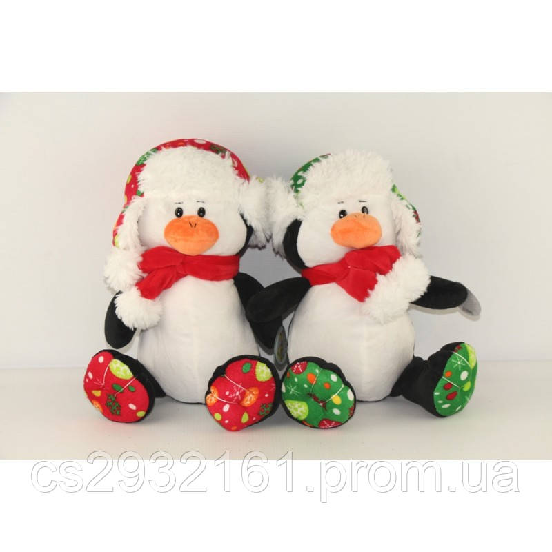 """Мягкая игрушка """"Пингвин в шапке"""" муз."""