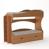 Кровать двухъярусная Бриз Компанит Бук, КОД: 182358