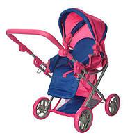 Коляска для кукол Melogo 9346 Mix демисезонная Розовый с синим int9346, КОД: 961368