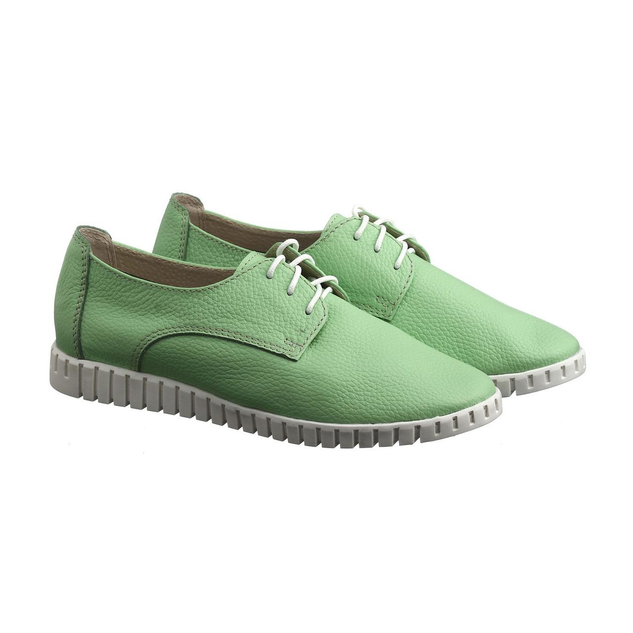 VM-Villomi Зеленые кожаные кеды