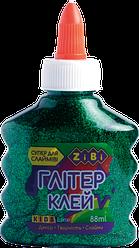 Клей ГЛИТТЕР зеленый на PVA-основе, прозрачный, 88 мл