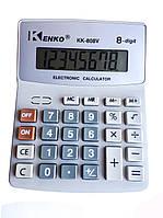 Калькулятор настольный Kenko КК-808V Серый КК-808V, КОД: 302901