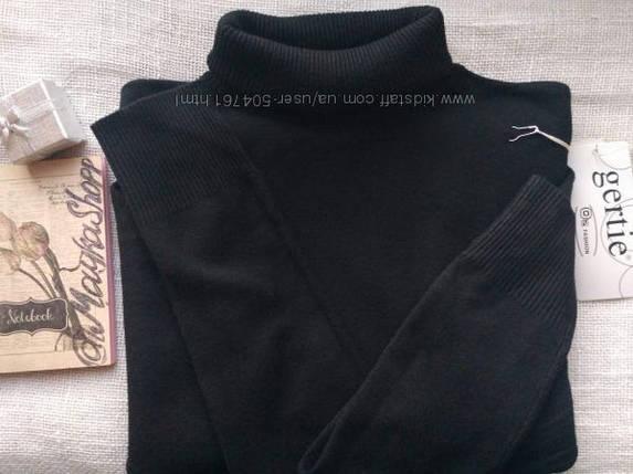Шерстяной гольф женский черный теплый прямого кроя размеры до 52го, фото 2