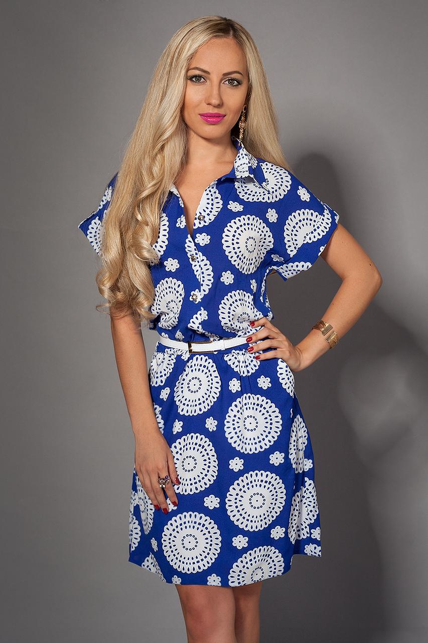 Платье мод 475-8,размер 50-52 электрик