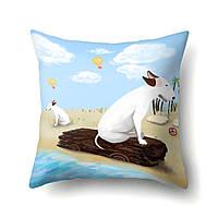 Подушка декоративная Пес на пляже 45 х 45 см Berni