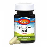 Альфа-липоевая кислота  Carlson Alpha Lipoic Acid 300 мг (30 таблеток)