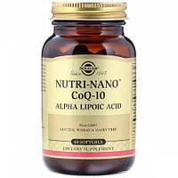 Альфа-липоевая кислота  Solgar Nutri-Nano CoQ 10 Alpha Lipoic Acid (60 капсул)
